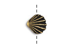 TierraCast Antique Gold (plated) Scallop Shell Button 13mm
