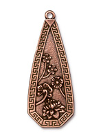 TierraCast Antique Copper (plated) Blossom Pendant 23x58mm
