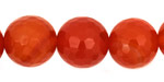 Carnelian Faceted Round 16mm