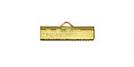 Gold (plated) Basketweave Ribbon Crimp Clasp 20mm