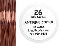 Parawire Antique Copper 26 Gauge, 30 Yards