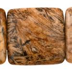 Madagascar Petrified Wood Puff Square 40mm