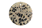 Dalmatian Jasper Thin Coin Pendant 30mm