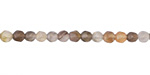 Botswana Agate Faceted Round 4mm