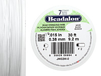 "Beadalon White .015"" 7 Strand Wire 30ft."