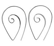 Nina Designs Sterling Silver Spiral Earwire 27x36mm