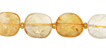 Citrine Faceted Flat Oval 14-15x11-12mm