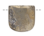 Golden Pyrite Banner Pendant (large hole) 30x30mm