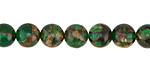 Kelly Green Opal w/ Bronzite Marbled Quartz Round 8mm