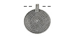 Zola Elements Antique Silver (plated) Beaded Concentric Circles Focal 18x20mm