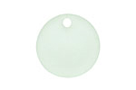 Seafoam Recycled Glass Concave Coin 24mm