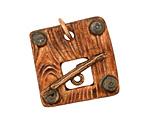 Earthenwood Studio Ceramic Square Lumber Toggle Clasp 26-27mm, 25mm bar