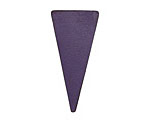 Lillypilly Purple Leather Triangle Tag 17x36mm
