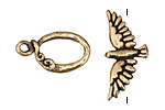 Green Girl Bronze Bird Toggle 13mm, 25mm bar