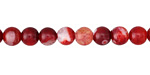 Cherry Red Fire Agate Round 6mm