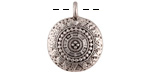 Zola Elements Antique Silver (plated) Ornate Medallion Coin Focal 18x23mm