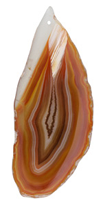 Orange Banded Agate Freeform Slice w/ Natural Edge Focal 29-40x75-102mm
