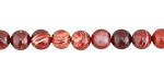 Red Snake Skin Jasper Round 6mm