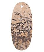 Artistic Stone (matte) Thin Sliced Oval Pendant 25x55mm