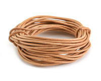 Natural Round Leather Cord 2mm