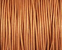 Bronze (metallic) Round Leather Cord 1.5mm