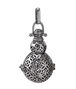Antique Rhodium (plated) Gourd Diffuser Locket 21x51mm