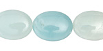 Amazonite (multi-color) Puff Oval 20x15mm