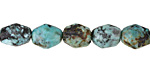 African Turquoise Faceted Rice 8-11x6-9mm