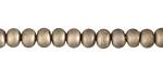 Matte Metallic Gold Crystal Nugget Rondelle 6mm