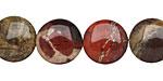 Apple Jasper Puff Coin 14mm