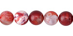 Cherry Red Fire Agate Round 10mm