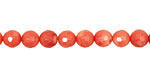 Coral, Pink Faceted Round 6mm