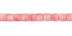Pink Coral Agate Tube 4x4mm