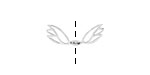 Amoracast Sterling Silver Angel Wings 10x19mm