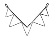 Nina Designs Sterling Silver Spiked Chevron Link 49x36mm