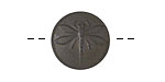 Czech Glass Matte Grey Brown Dragonfly Button 18mm