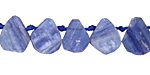 Kyanite Flat Teardrop Slice 9-16x10-18mm