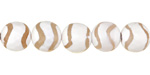 Tibetan (Dzi) Agate White & Natural Wave Faceted Round 10mm