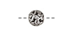 Antique Silver (plated) Openwork Scrolling Vine Round 10mm