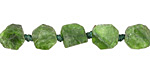 Chrome Diopside Natural Cut Slice 8-11x8-11mm