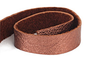 "TierraCast Antiqued Copper Leather Strap 10"" x 1/2"""