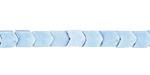 Denim Blue Agate Chevron 6x4mm