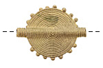 African Brass Flat Sun Coin 34-37x26-27mm