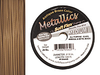 "Soft Flex Antique Brass .019"" (Medium) 49 Strand Wire 100ft."