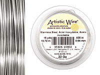 Artistic Wire Stainless Steel 22 gauge, 15 yards