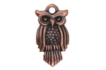 Greek Bronze (plated) Large Owl Charm 15x29mm