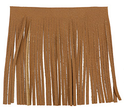 Camel Leather Tassel Fringe 5 inch square
