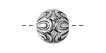 Zola Elements Antique Silver (plated) Daisy Capped Round 15mm
