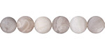 White Lace Agate (matte) Round 8mm