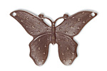 Vintaj Natural Brass Dotted Butterfly 41x28mm